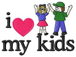 I Love My Kids/Children embroidery design
