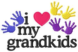 Love My Grandkids embroidery design