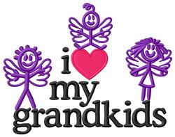 I Love My Grandkids embroidery design