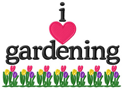I Love Gardening/Tulips embroidery design