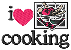 I Love Cooking/Logo embroidery design