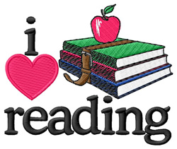 I Love Reading/Books embroidery design