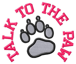 Talk to the Paw embroidery design