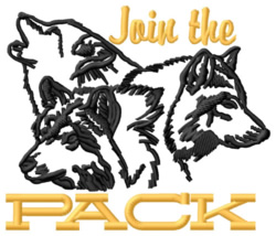 Join The Pack embroidery design