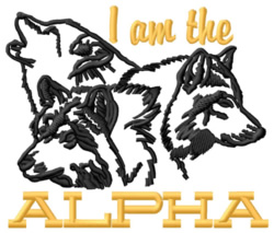 I Am The Alpha embroidery design