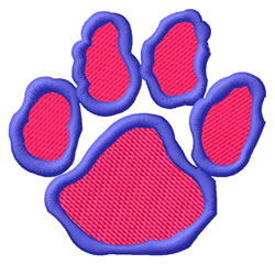 Bulldog Pawprint embroidery design