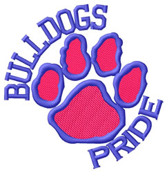 Bulldogs Pride embroidery design