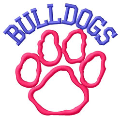 Bulldogs embroidery design