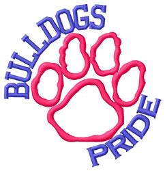Bulldogs Pride embroidery design