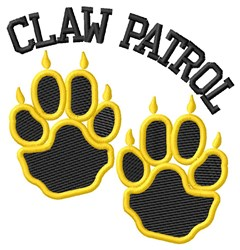 Cat Claw Patrol embroidery design