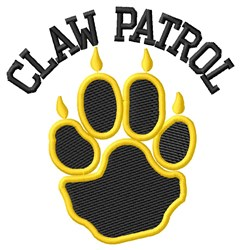 Bear Claw Patrol embroidery design