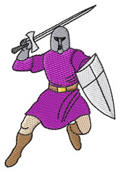 Crusader embroidery design