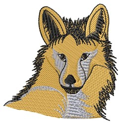 Fox Head embroidery design
