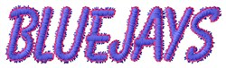 Bluejays embroidery design