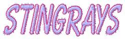 Stingrays embroidery design