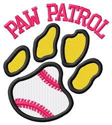 Cat Patrol Baseball embroidery design