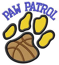 Cat Patrol Basketball embroidery design
