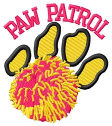 Cat Patrol Cheer embroidery design