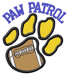 Cat Patrol Football embroidery design