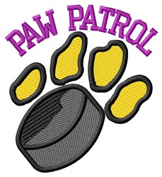 Cat Patrol Hockey embroidery design