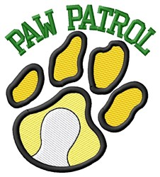 Cat Patrol Tennis embroidery design