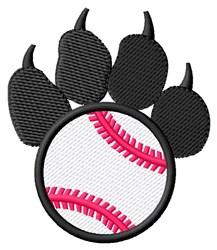 Baseball Pawprint embroidery design