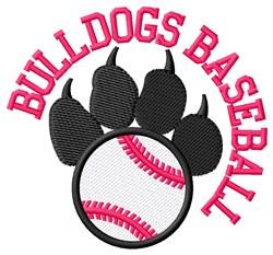 Bulldogs Baseball embroidery design