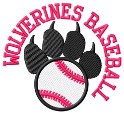 Wolverines Baseball embroidery design