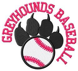 Greyhounds Baseball embroidery design