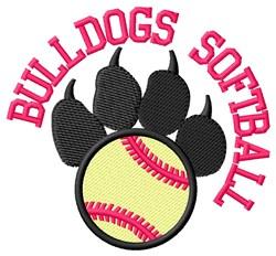 Bulldogs Softball embroidery design