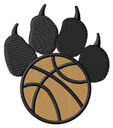 Basketball Pawprint embroidery design
