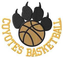 Coyotes Basketball embroidery design