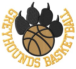 Greyhounds Basketball embroidery design