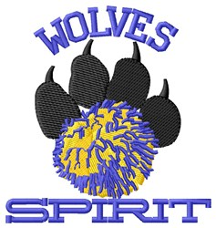 Wolves Spirit embroidery design