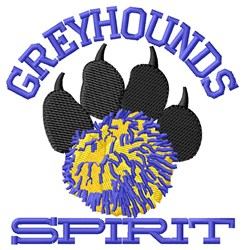 Greyhounds Cheer embroidery design
