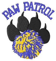 Dog Patrol Cheer embroidery design