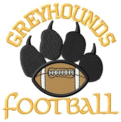 Greyhounds Football embroidery design