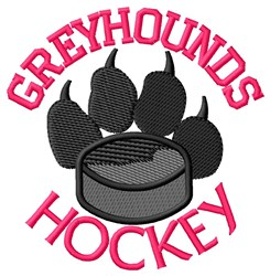 Greyhounds Hockey embroidery design