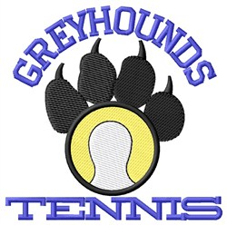 Greyhounds Tennis embroidery design