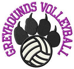 Greyhounds Volleyball embroidery design