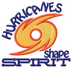 Hurricanes Shape Spirit embroidery design