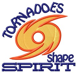 Tornadoes Shape Spirit embroidery design