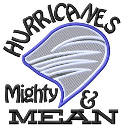 Hurricanes Mighty Mean embroidery design