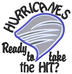 Hurricanes Hit embroidery design