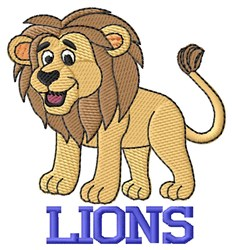 Lions Mascot embroidery design