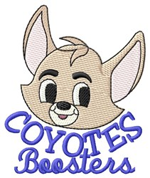 Coyotes Boosters embroidery design