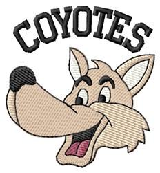 Coyote embroidery design