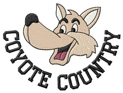 Coyote Country embroidery design