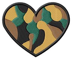Camo Heart embroidery design