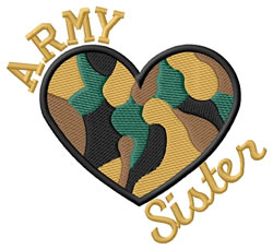 Army Sister embroidery design